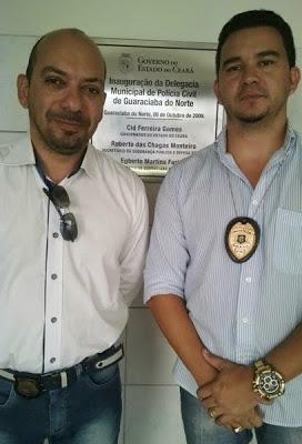 Delegado Dr. Marcio Fernandes  e o Escrivão Farias Filho